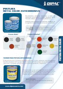 pintura metal color - Dipac Manta / Productos de Acero