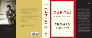 Cover - Thomas Piketty