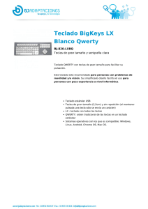 Teclado BigKeys LX Blanco Qwerty
