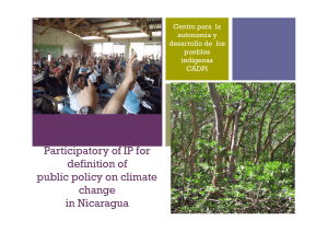 Participatory of IP for definition of public policy on climate