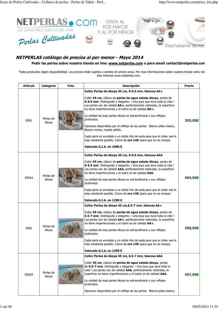 6d6318933c82 Catálogo PDF - Perlas cultivadas