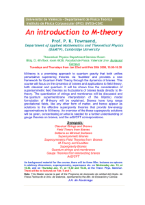 An introduction to M-theory - Indico