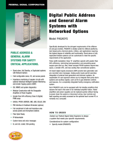 Digital Public Address and General Alarm Systems with Networked