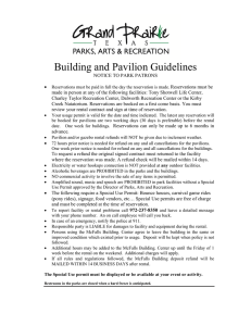 Building and Pavilion Guidelines