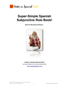 Super-Simple Spanish Subjunctive Rule Book
