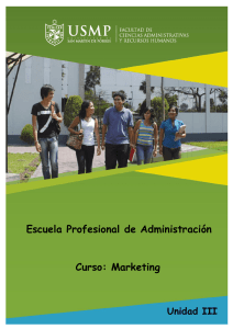 Escuela Profesional de Administración Curso: Marketing