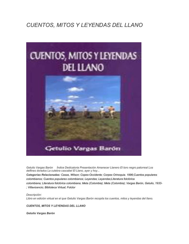 CUENTOS, MITOS Y LEYENDAS DEL LLANO