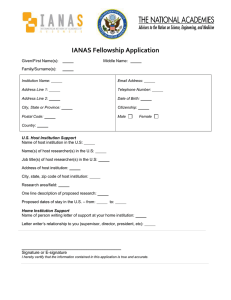 IANAS Fellowship Application