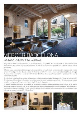 Descargar folleto - Mercer Hotel Barcelona