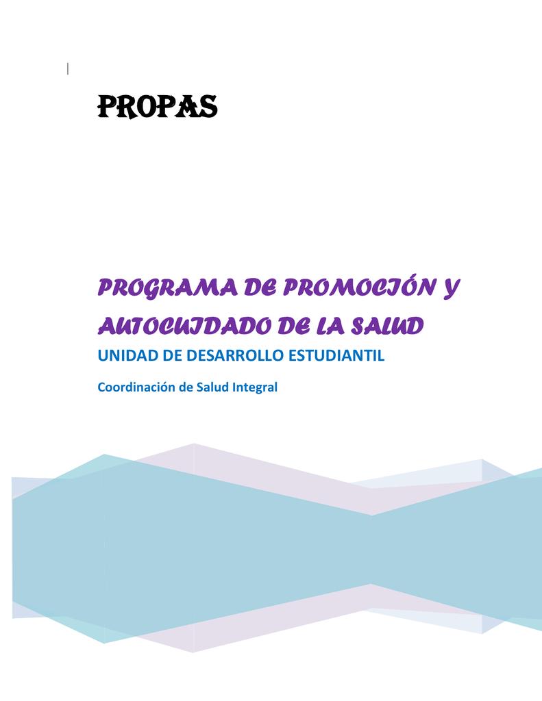 Programa De Promoción Y Autocuidado De La Salud