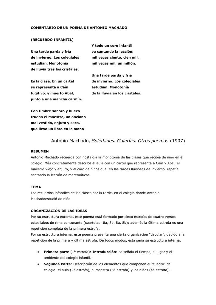 Antonio Machado Soledades Galerías Otros Poemas