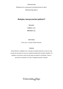 Roleplay interpretación judicial 5