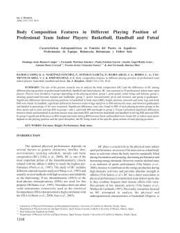 Body Composition Features in Different Playing Position of