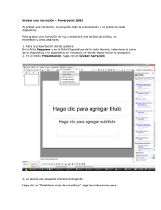 Grabar una narracin Powerpoint 2003