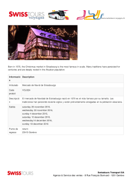 Born in 1570, the Christmas market in Strasbourg is the most famous
