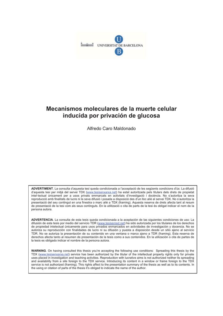 Mecanismos moleculares de la muerte celular inducida por
