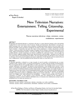 New Television Narratives: Entertainment, Telling, Citizenship