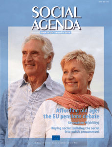 Affording old age: the EU pensions debate