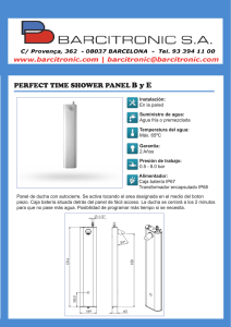 PERFECT TIME SHOWER PANEL B y E