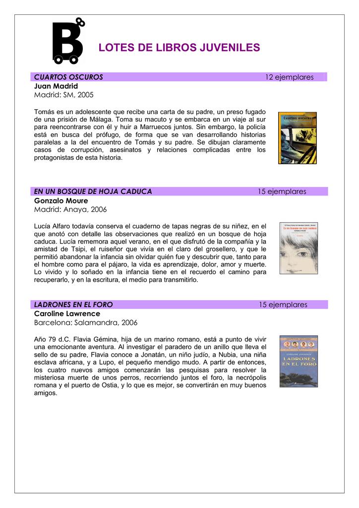 LOTES DE LIBROS. Información