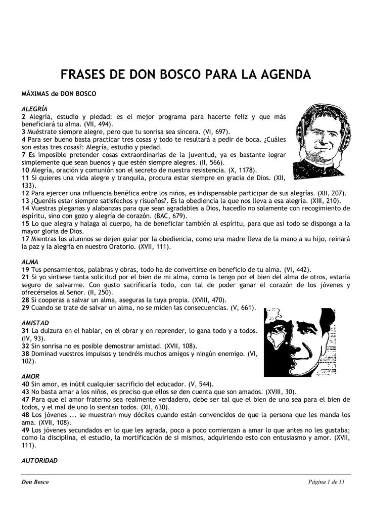 Frases De Don Bosco Para La Agenda