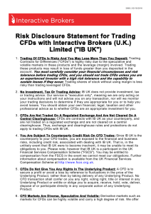 Risk disclosure Statement for Trading CFDs With IB (UK)