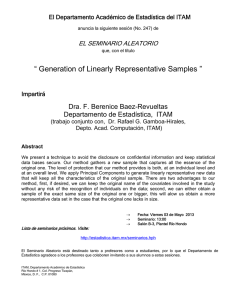 Generation of Linearly Representative Samples