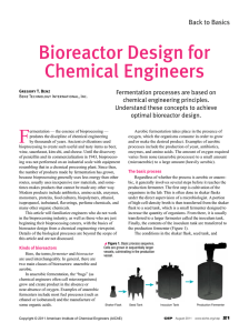 Bioreactor Design for Chemical Engineers