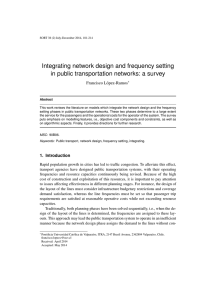 Integrating network design and frequency setting in public