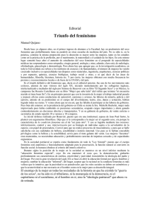 Triunfo del feminismo - E-journal