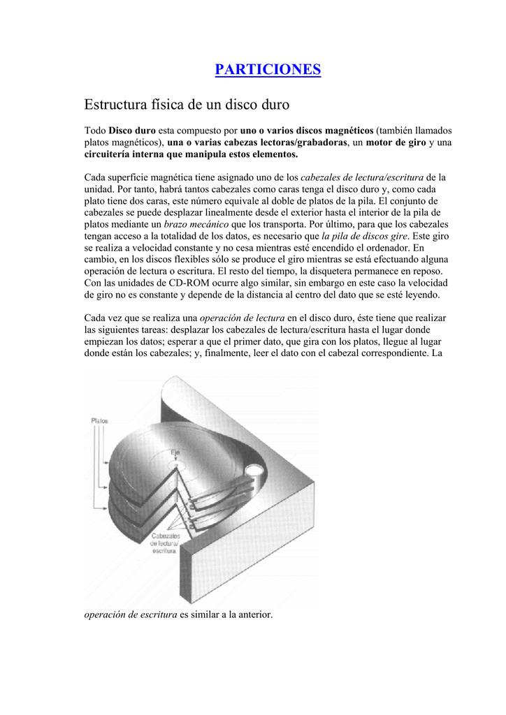 Particiones Estructura Física De Un Disco Duro