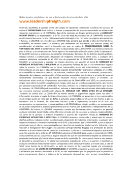 Aspectos Legales - leadership freight group