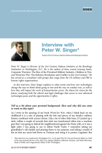 Interview with Peter W. Singer