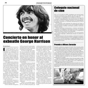 Concierto en honor al exbeatle George Harrison
