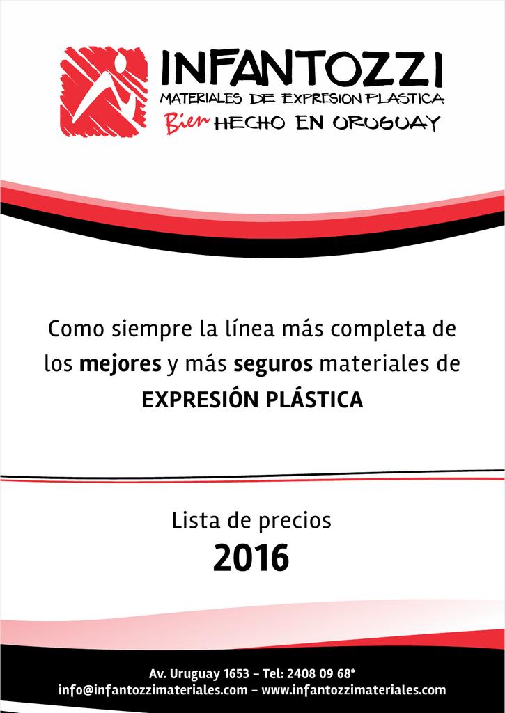 7bcd07b339e Lista precios Colegios e Instituciones 2016 INFANTOZZI