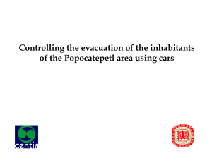 Controlling the evacuation of the inhabitants of the Popocatepetl