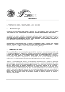 2. fundamento legal y objetivo del libro blanco.