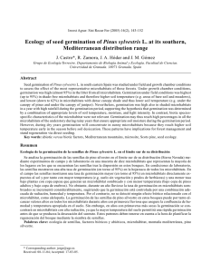 Ecology of seed germination of Pinus sylvestris L. at its