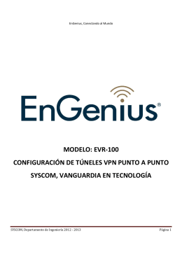 EnGenius EVR-100 Túnel VPN Multipunto