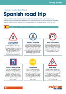 Spanish road trip - Swinton Insurance