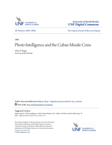 Photo Intelligence and the Cuban Missile Crisis