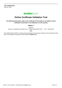 Online Certificate Validation Tool