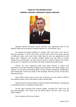 CHIEF OF THE DEFENCE STAFF GENERAL ADMIRAL