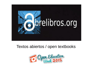 Textos abiertos / open textbooks