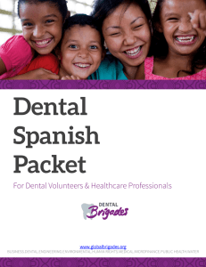 Dental Spanish Packet