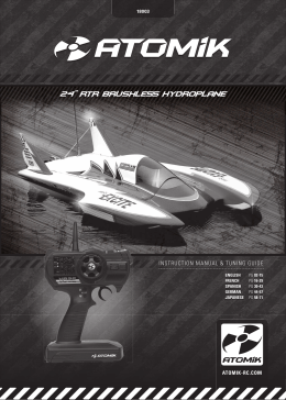 "24"" rtr brushless hydroplane"