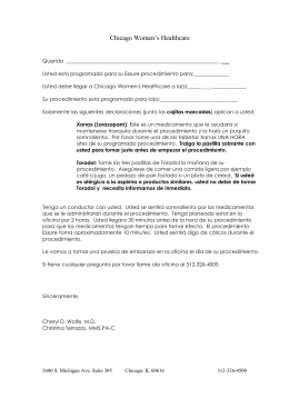 Essure Pre-Procedure Instructions in Spanish