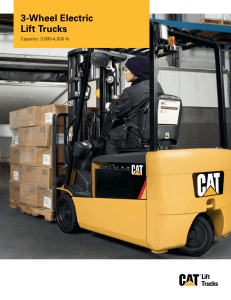 3-Wheel Electric Lift Trucks