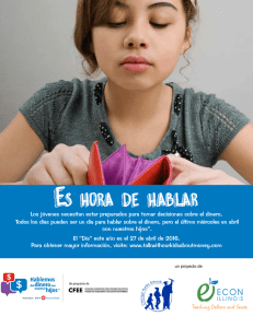 Es hora de hablar - Talk with our Kids About Money