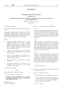 Commission Implementing Decision of 29 January 2013